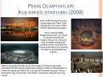 pekin olimpiyatlar ku kafesi stadyumu 2008