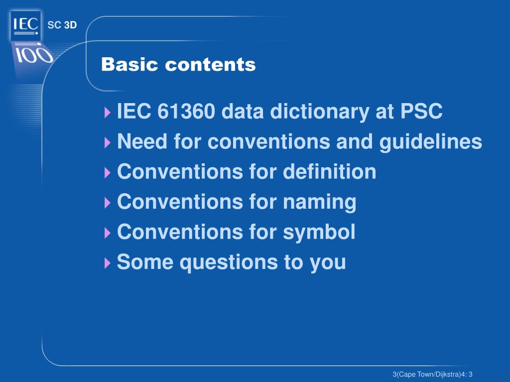Basic contents