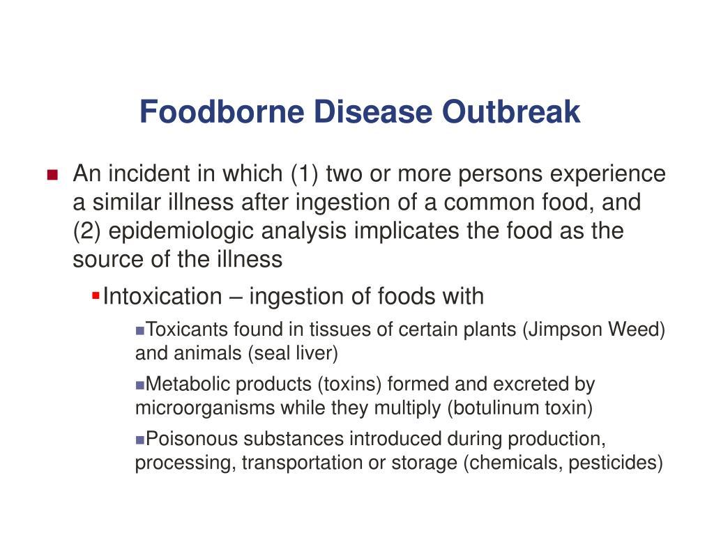 Foodborne Disease Outbreak