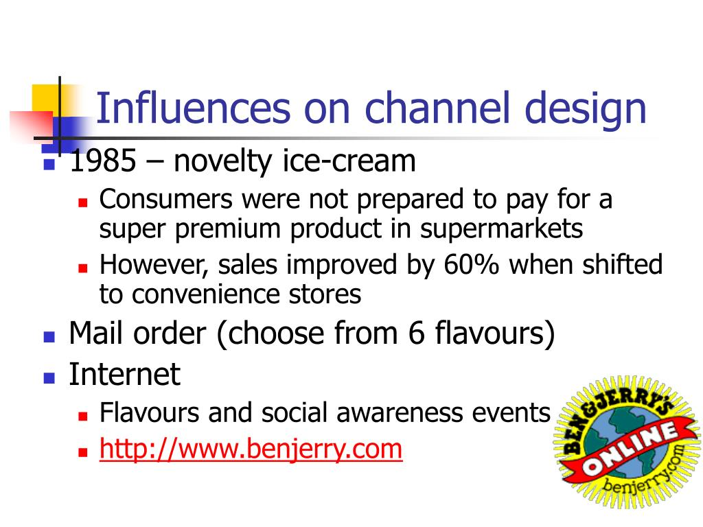 Influences on channel design
