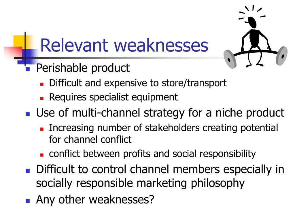Relevant weaknesses