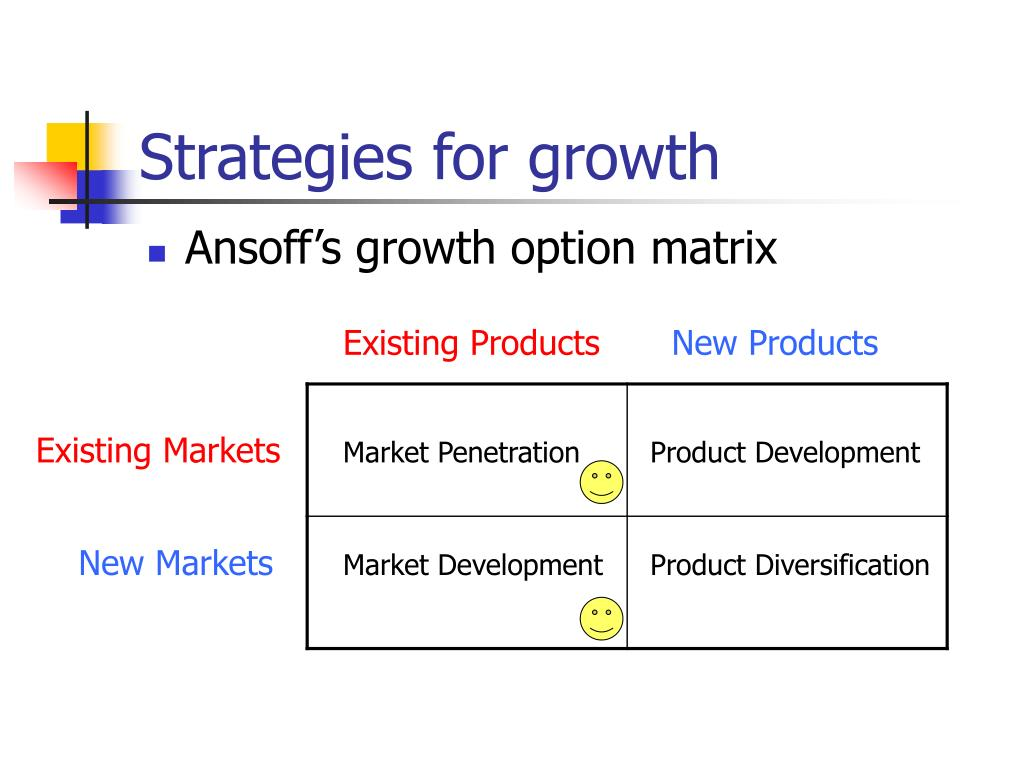 Strategies for growth