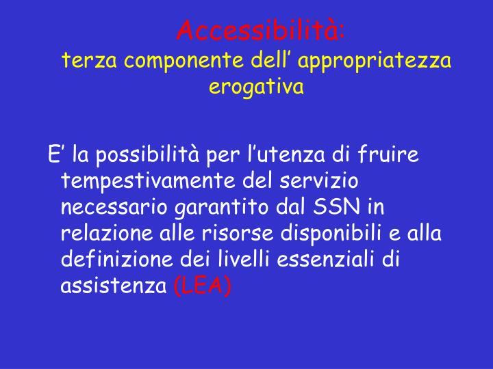 Accessibilità:
