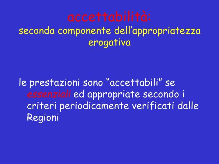 accettabilità: