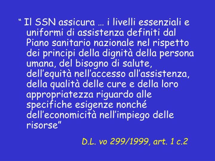 D.L. vo 299/1999, art. 1 c.2