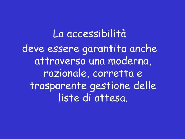 La accessibilità