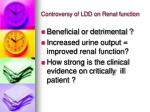 controversy of ldd on renal function1