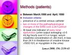methods patients