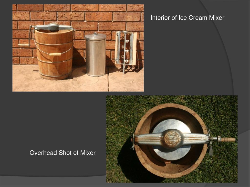 Interior of Ice Cream Mixer
