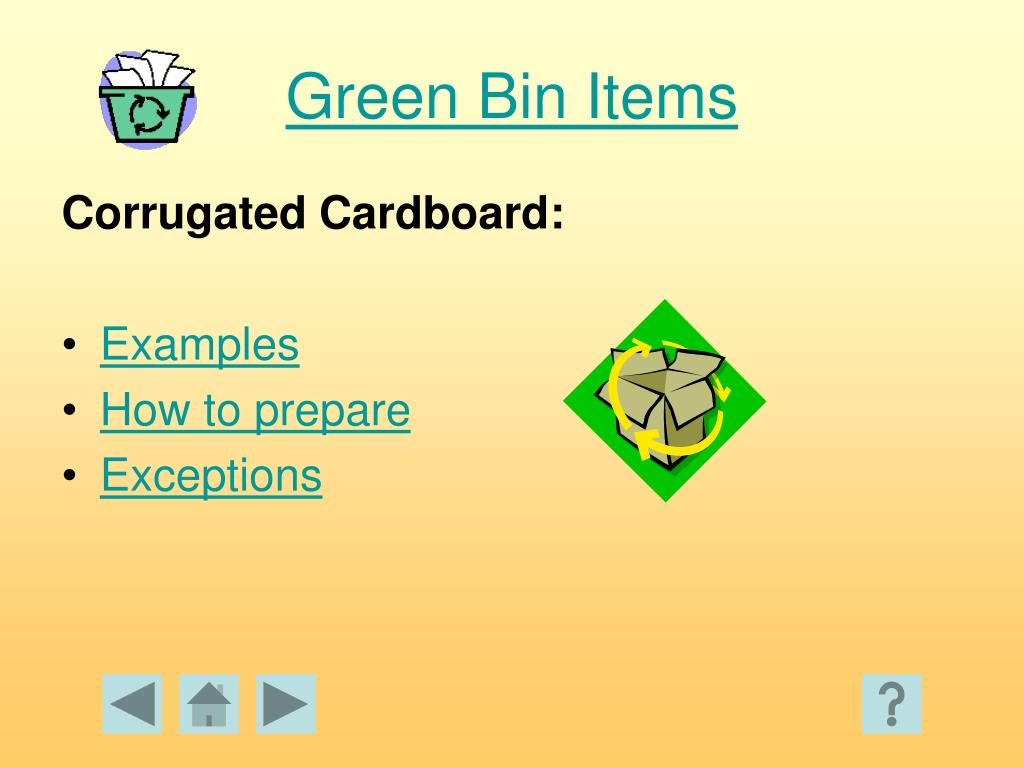 Green Bin Items