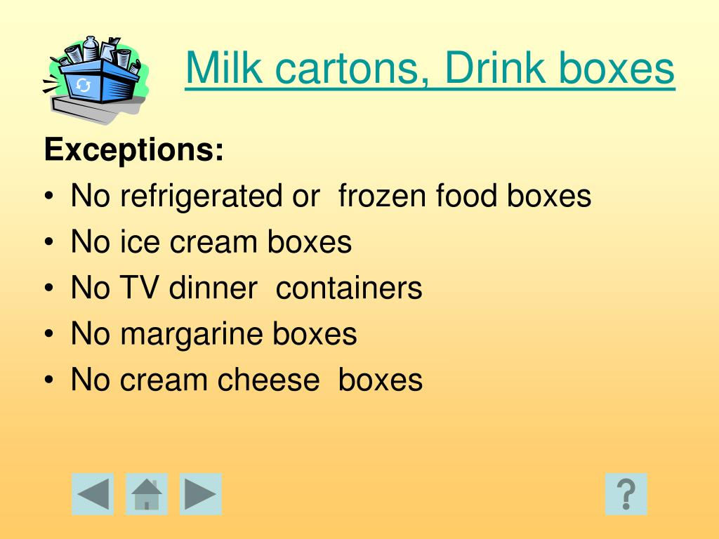 Milk cartons, Drink boxes