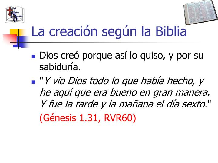 La creación según la Biblia