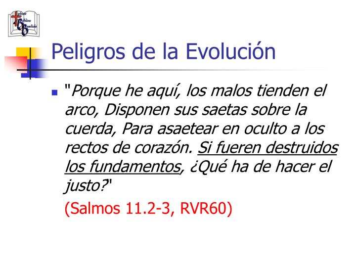 Peligros de la Evolución