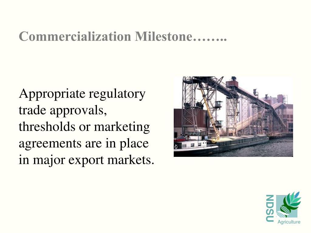 Commercialization Milestone……..