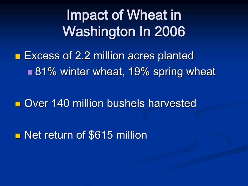 Impact of Wheat in