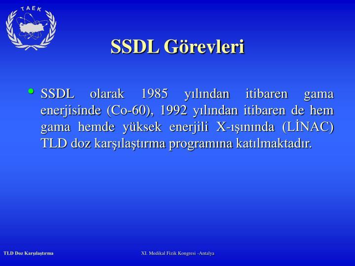 SSDL Görevleri