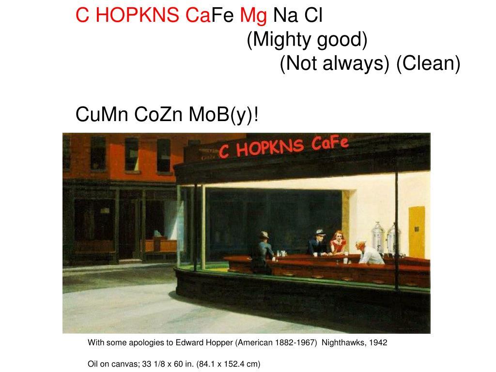C HOPKNS Ca