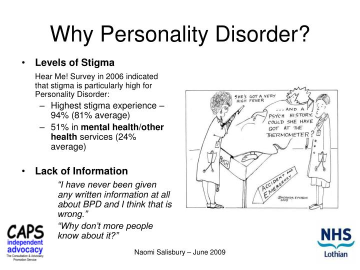 Why Personality Disorder?