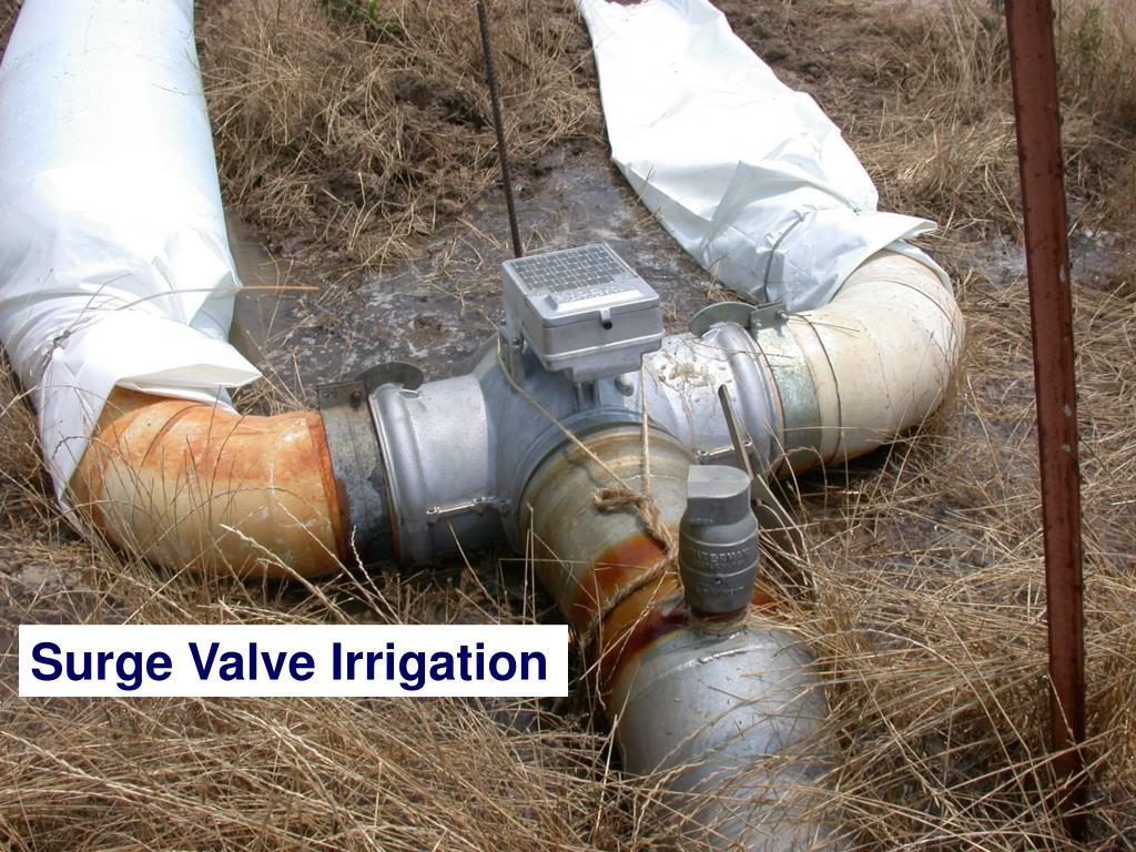 Surge Valve Irrigation