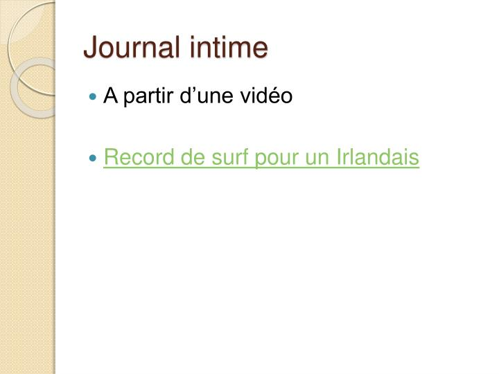 Journal intime