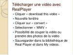 t l charger une vid o avec realplayer