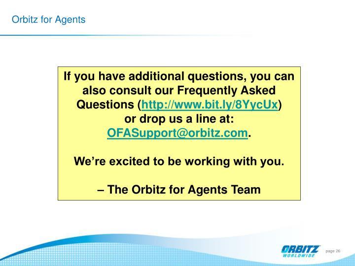 Orbitz for Agents