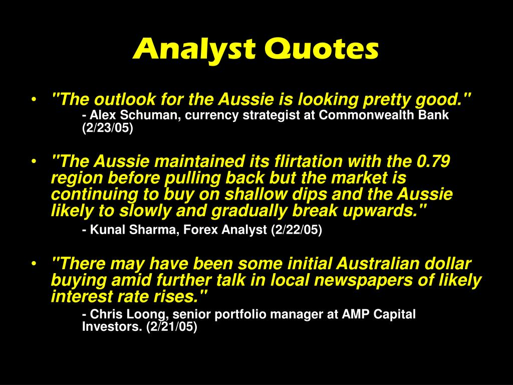 Analyst Quotes