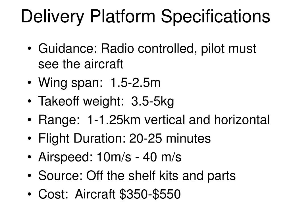 Delivery Platform Specifications