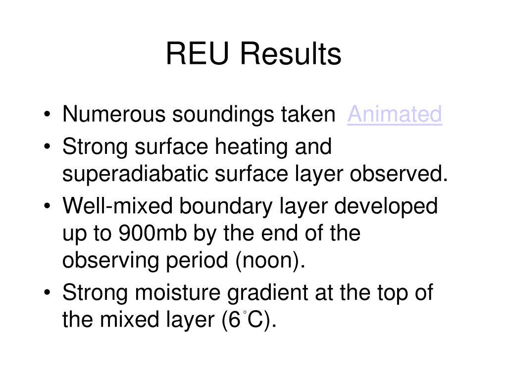 REU Results