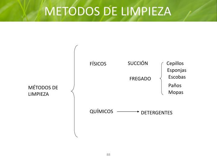 METODOS DE LIMPIEZA