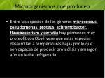 microorganismos que producen prote lisis continuaci n