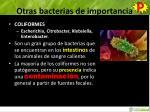 otras bacterias de importancia