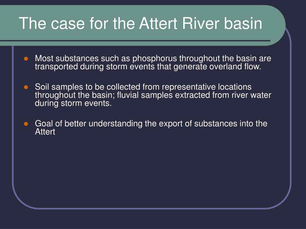 The case for the Attert River basin