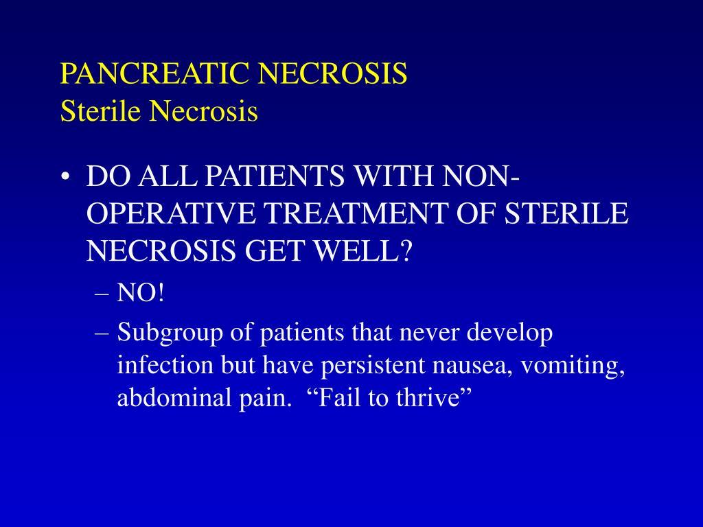 PANCREATIC NECROSIS