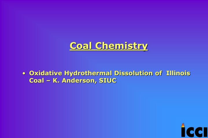 Coal Chemistry