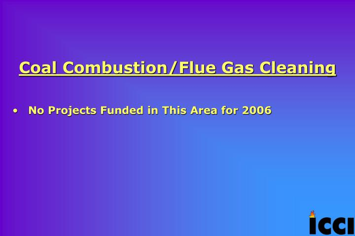 Coal Combustion/Flue Gas Cleaning