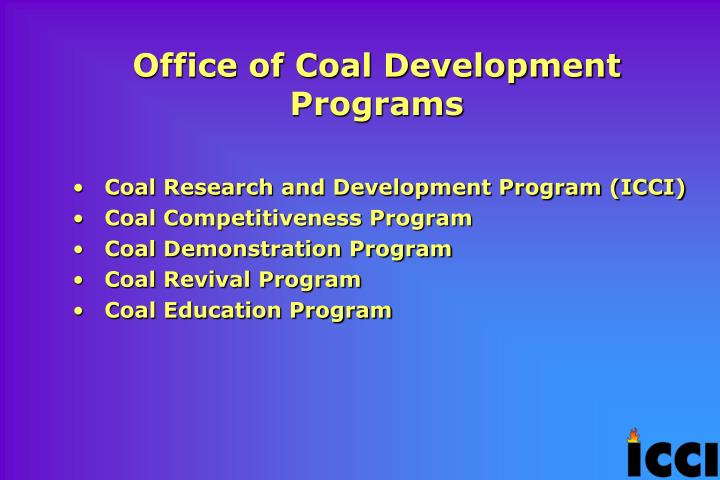 Office of Coal Development Programs
