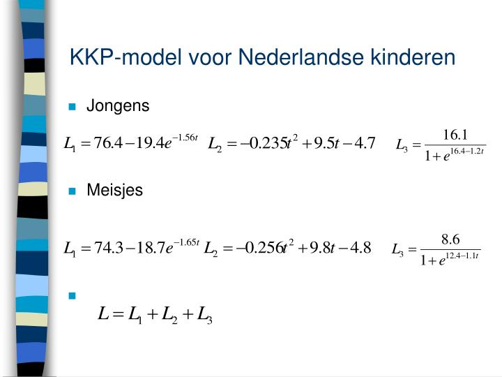 KKP-model voor Nederlandse kinderen