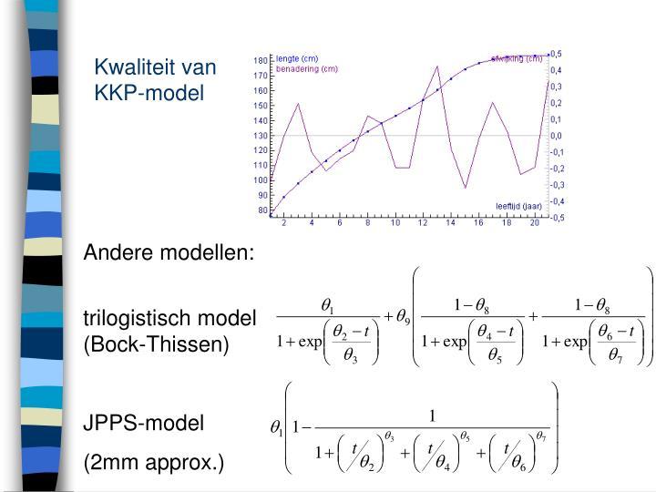 Kwaliteit van KKP-model