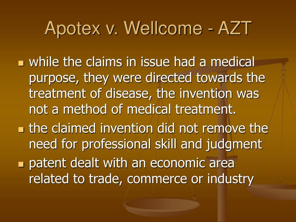 Apotex v. Wellcome - AZT