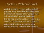 apotex v wellcome azt