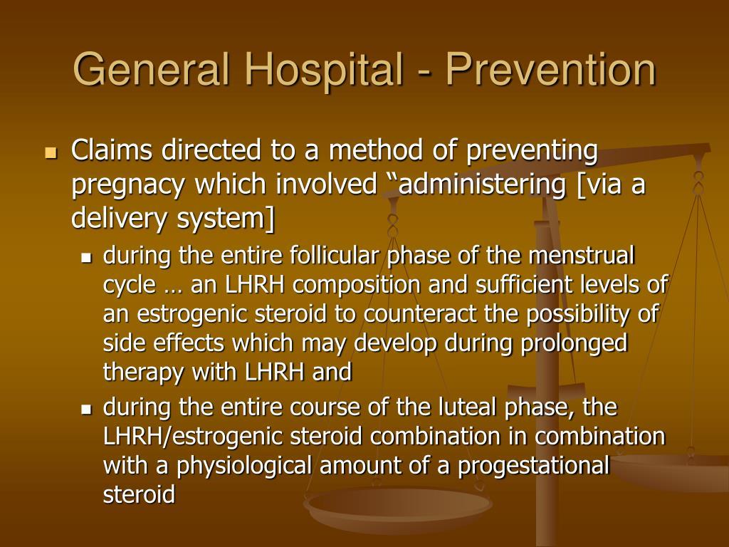 General Hospital - Prevention