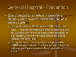 general hospital prevention