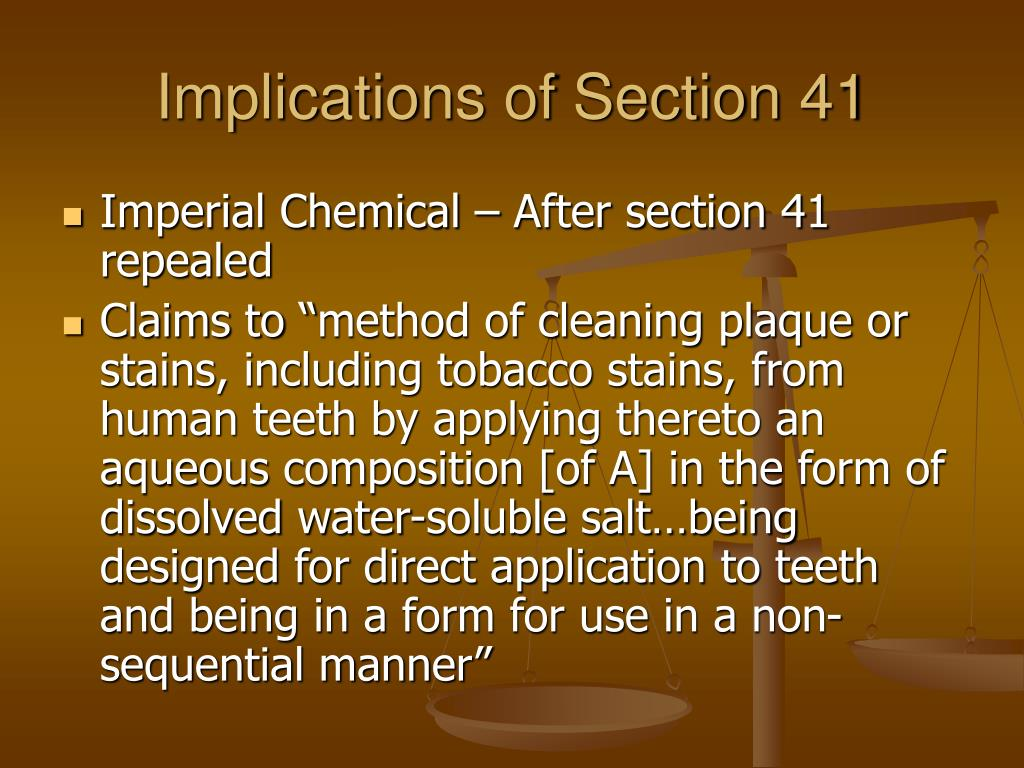 Implications of Section 41