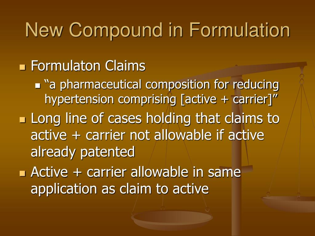 New Compound in Formulation