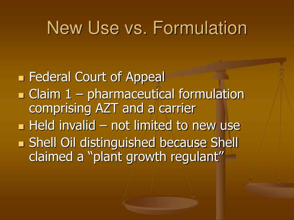 New Use vs. Formulation