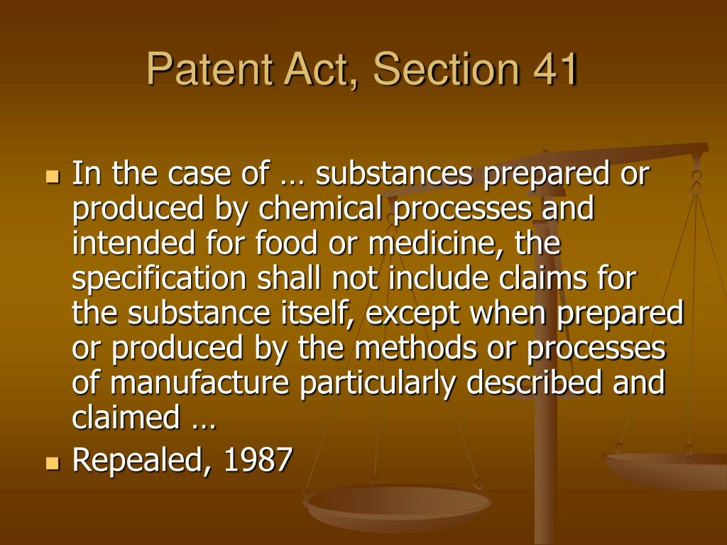 Patent Act, Section 41
