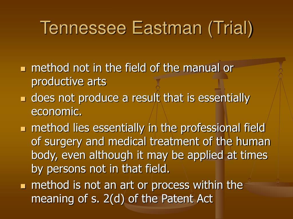 Tennessee Eastman (Trial)