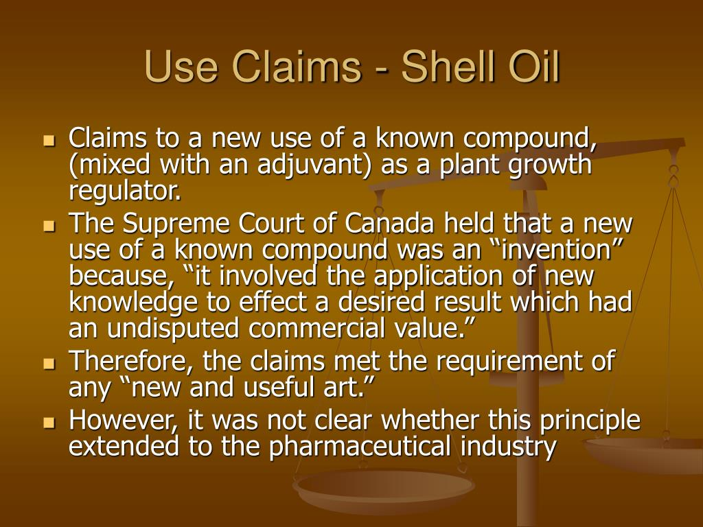 Use Claims - Shell Oil