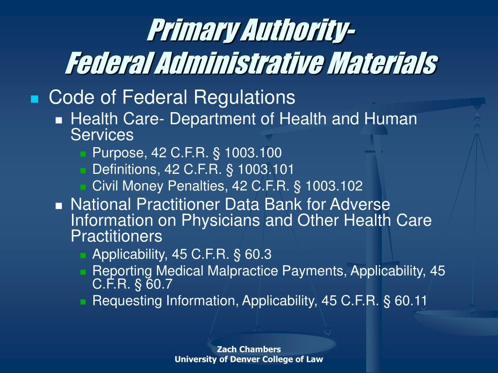 Primary Authority-
